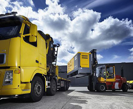 QAS 250 generator on a truck